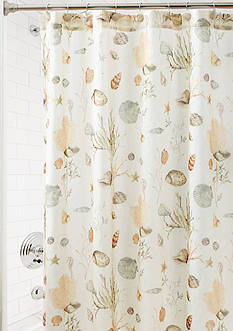 Croscill Ocean Grove Shower Curtain and Hooks