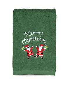 Avanti Merry Christmas Santa Fingertip Towel