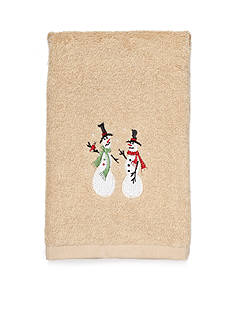 Avanti Snowman Fingertip Towel