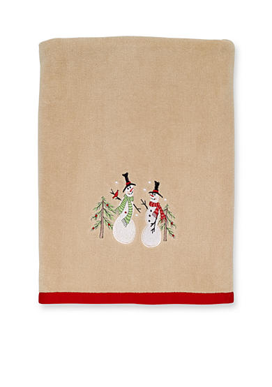 Avanti Tall Snowman Bath Towel