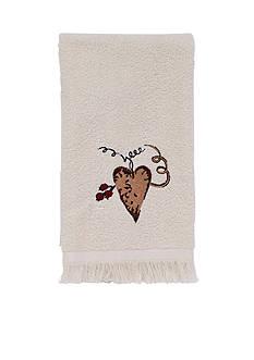 Avanti Hearts & Stars Ivory Fingertip Towel