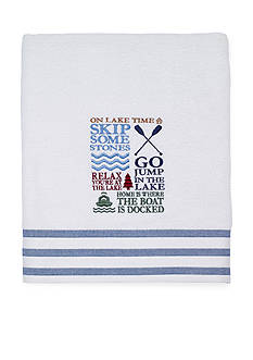 Avanti Lake Words Bath Towel