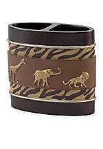 Animal Parade Toothbrush Holder 4.25-in. x 2-in. x 4-in.