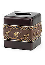 Animal Parade Tissue Box Cover 5.5-in. x 5.5-in. x 6-in.