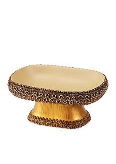 Avanti Braided Medallion Gold Soap Dish