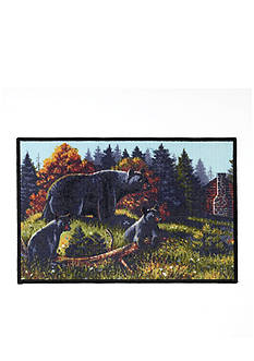 Avanti Black Bear Bath Rug
