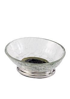 Avanti Crackle Glass Clear Soap Dish
