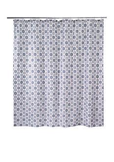 Avanti Dotted Circle Shower Curtain
