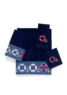Avanti Life Preserver Indigo Bath Towel Collection