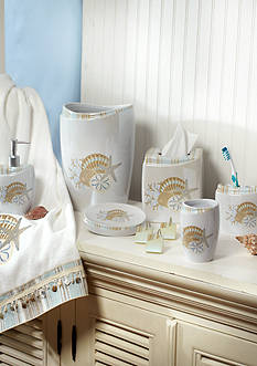 Avanti By The Sea Collection Bath Accessories, Shower Curtain, and Rug