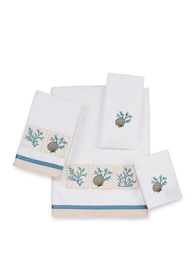 Avanti Cayman White Bath Towel Collection