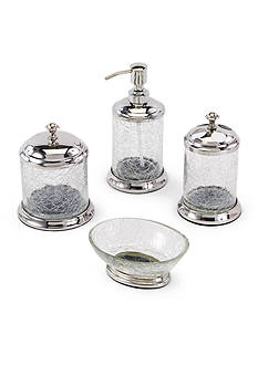 Avanti Crackle Glass Bathroom Accessories Collection