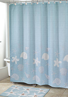 Avanti Sequin Shells Shower Curtain