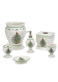 Spode Christmas Tree Bath Accessories Collection