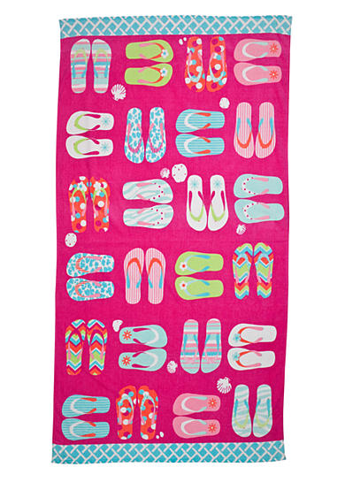 Home Accents® Flip Flop Fun Beach Towel