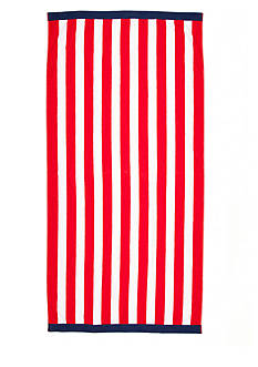 Home Accents® Red Stripe Saver Beach Towel