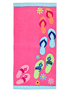 Home Accents® Flops Ashore Beach Towel