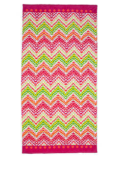 Home Accents® Feathered Chevron Beach Towel