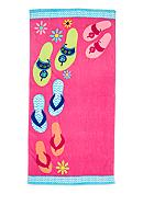 Home Accents® Walking Flops Beach Towel