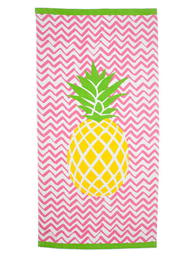 Home Accents® Center Pineapple Beach Towel