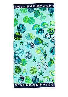Home Accents Sand Box Shells Beach Towel