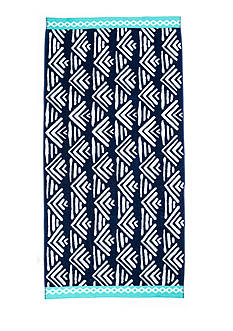 Home Accents Geo Waves Navy Beach Towel