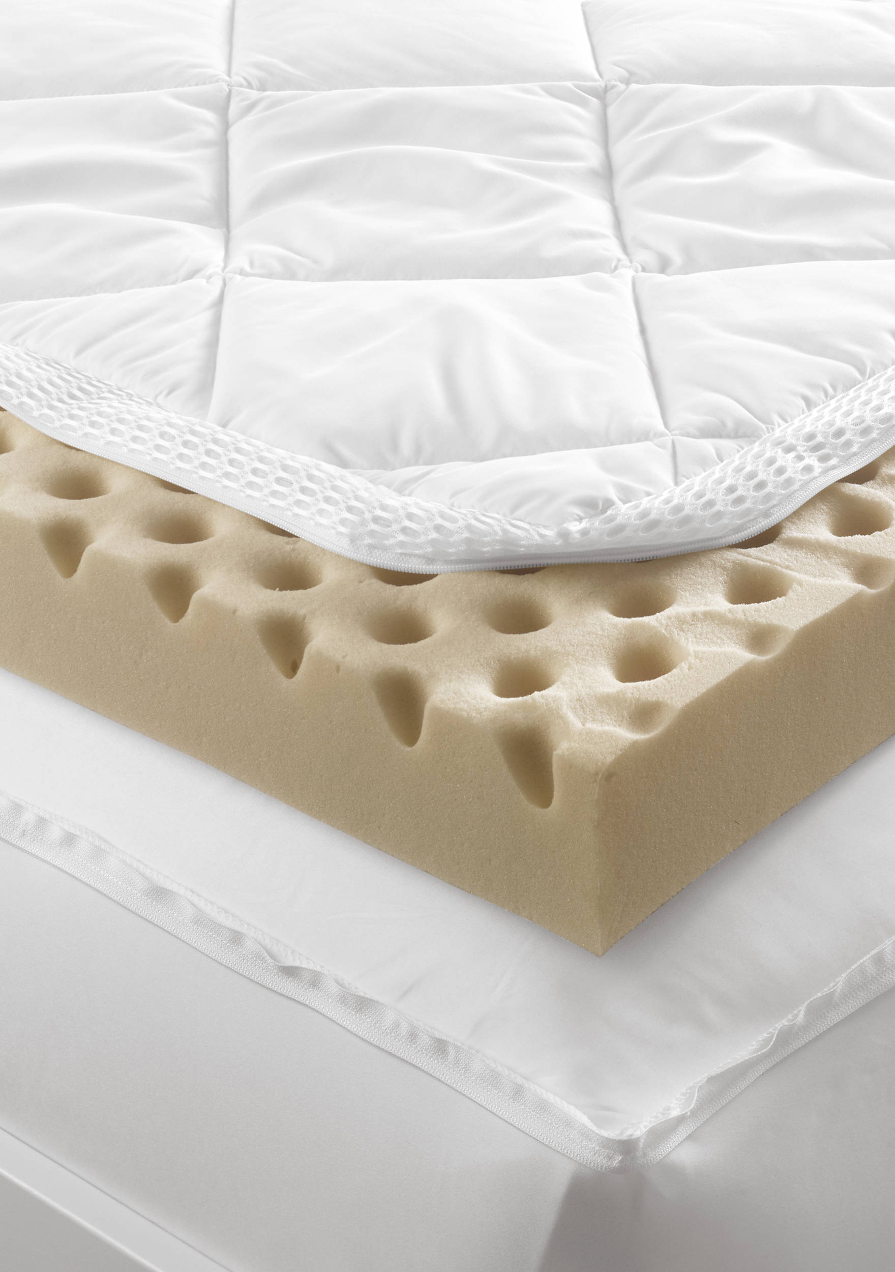 Images Iso-Cool Total Body Comfort Mattress Topper with Cover