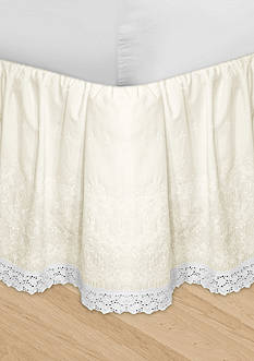 Veratex HUYS Adjustable Embroidered Bedskirt