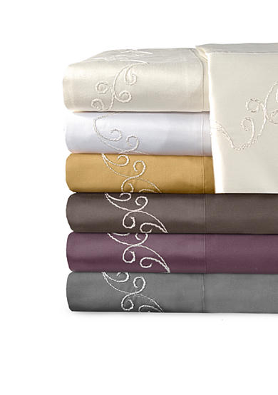 Veratex Supreme Sateen 800 Thread Count Scroll Sheet Collection - Online Only