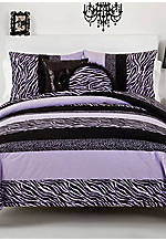 Zebra Darling Purple Twin Comforter Set 66-in. x 86-in. with Sham 20-in. x 26-in.