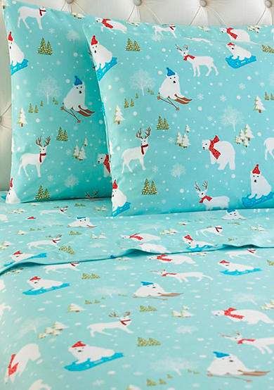 Shavel Fun in the Snow MICRO FLANNEL® Flannel Sheet Set - Online Only