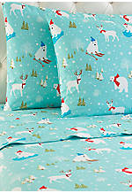 Fun in the Snow MICRO FLANNEL® Full Sheet Set 86-in. x 100-in.