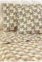 Pine Cone MICRO FLANNEL® Flannel Full Sheet Set