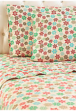 Snowflake MICRO FLANNEL® Full Sheet Set 86-in. x 100-in.