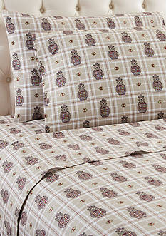 Shavel Micro Flannel Grizzly B. Cool Queen Sheet Set