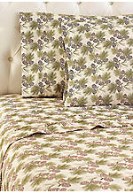 Pine Cone MICRO FLANNEL® Flannel Queen Sheet Set