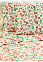 Snowflake MICRO FLANNEL® Queen Sheet Set 92-in. x 108-in.