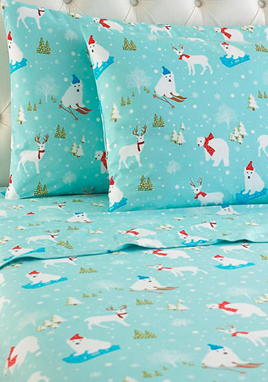 Shavel Micro Flannel® Fun In The Snow Sheet Set - Online Only