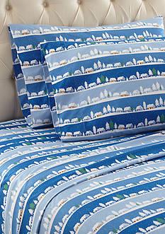 Shavel Micro Flannel Winter Village Sheet Set