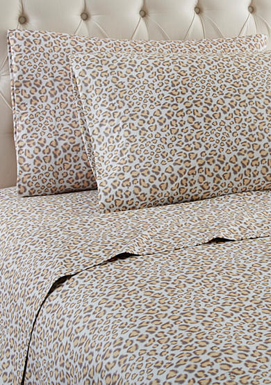 Shavel Micro Flannel Leopard Sheet Set