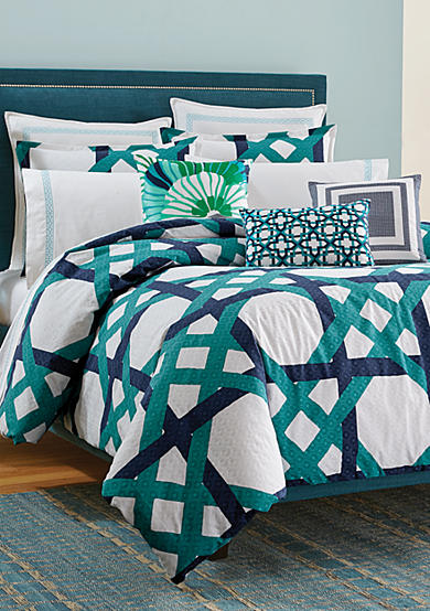 Trina Turk Pacific Pier Lattice Bedding Collection