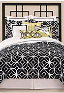 Trina Turk Trellis Black & White Bedding
