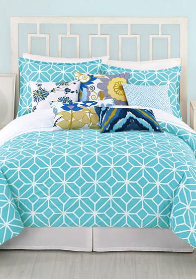 Trina Turk Trellis Turquoise Bedding Collection