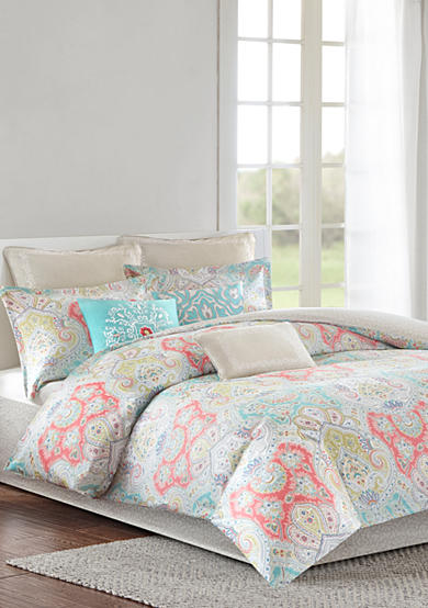 Madison Park Rosie Coral King Bed Set