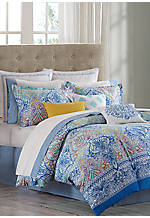 Painted Paisley King Comforter Set 110-in. X 96-in.