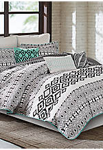 Kaela Queen Reversible Comforter Set 92-in. x 96-in.