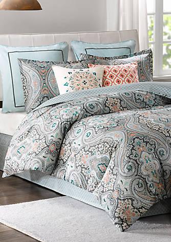 Echo Design Sterling Queen Reversible Comforter Set Belk