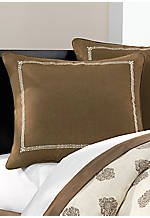 Raja Brown Embroidered Euro Sham 26-in. x 26-in.