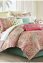 Guinevere Coral/Mint King Duvet Set 110-in. x 96-in.