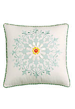 Jaipur White Square Decorative Pillow 18-in. x 18-in.
